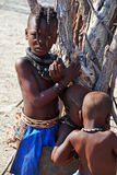 Himbas. The Himba are indigenous peoples  living in northern Namibia, in the Kunene region Royalty Free Stock Photo