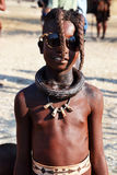 Himbas. The Himba are indigenous peoples  living in northern Namibia, in the Kunene region Royalty Free Stock Image