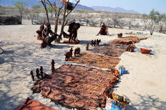 Himbas. The Himba are indigenous peoples  living in northern Namibia, in the Kunene region Stock Image