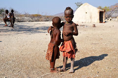 Himbas. The Himba are indigenous peoples  living in northern Namibia, in the Kunene region Stock Photo