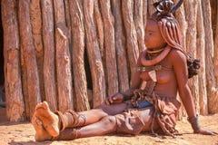Himbavrouw royalty-vrije stock afbeelding