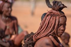 Himbavrouw royalty-vrije stock afbeeldingen