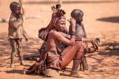Himbavrouwen royalty-vrije stock afbeeldingen