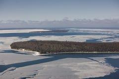 Himbeere-Insel im Winter Stockbild
