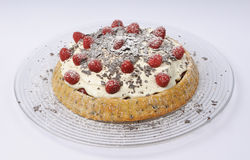 Himbeerekäse torte Stockbild