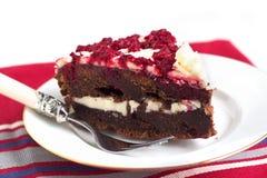 Himbeerschokoladenkuchen Stockbild