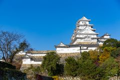 Himeiji Castle. Beautiful scenery landscape at outdoor Stock Image