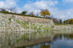 Himeiji Castle and canal. Beautiful scenery landscape at outdoor Stock Photography