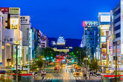 HIMEJI, ЯПОНИЯ - 2-ОЕ АПРЕЛЯ: Замок Himeji 2-ого апреля 2017 Himeji Стоковые Фотографии RF