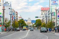 HIMEJI, ЯПОНИЯ - 2-ОЕ АПРЕЛЯ: Замок Himeji 2-ого апреля 2017 Himeji Стоковое фото RF