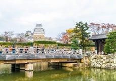 HIMEJI, ЯПОНИЯ - 20-ое ноября 2016 - замок Himeji, мир h ЮНЕСКО Стоковое Изображение