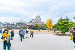 HIMEJI, ЯПОНИЯ - 20-ое ноября 2016 - замок Himeji, мир h ЮНЕСКО Стоковое фото RF