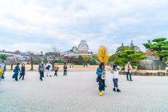 HIMEJI, ЯПОНИЯ - 20-ое ноября 2016 - замок Himeji, мир h ЮНЕСКО Стоковые Фото