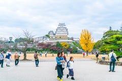 HIMEJI, ЯПОНИЯ - 20-ое ноября 2016 - замок Himeji, мир h ЮНЕСКО Стоковая Фотография