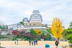 HIMEJI, ЯПОНИЯ - 20-ое ноября 2016 - замок Himeji, мир h ЮНЕСКО Стоковые Фотографии RF