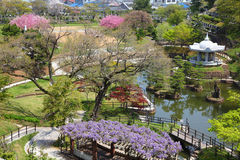 Himeji. Japan (Kansai region). Japanese garden of Nagoyama cemetery Stock Photography