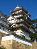 Himeji Castle. Detail of Himeji Castle in Himeji, Japan Stock Photo