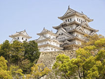 Himeji Castle. Is a flatland-mountain Japanese white castle complex located in Himeji. It was registered as the first Japanese National Cultural Treasure by Stock Photography