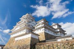 Himeji castle against blue sky background Royalty Free Stock Images