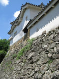 Himeji Castle defensive wall and tower Stock Photo