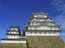 Himeji Castle. This feudal-era castle is one of the finest remaining examples of traditional Japanese architecture Stock Photos