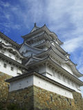 Himeji Castle. This feudal-era castle is one of the finest remaining examples of traditional Japanese architecture Royalty Free Stock Photos
