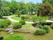 Himeji Castle gardens Royalty Free Stock Images