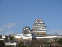 Himeji Castle. In Himeji, Japan. This castle is known for its white facade. This photo shows the main keep of the castle royalty free stock photos