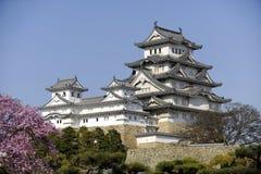 Himeji Castle, Japan. Himeji Castle under blue skies, famed castle of Honshu Stock Photo