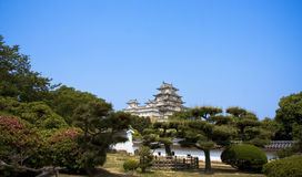 Himeji Castle, Japan. Garden view at bottom of Himeji Castle, Japan Royalty Free Stock Photography