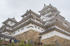Himeji Castle in Japan, also called the white Heron castle royalty free stock image