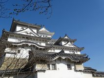 Himeji Castle, Japan. Himeji Castle in Himeji, Japan, famed for its white facade royalty free stock photos