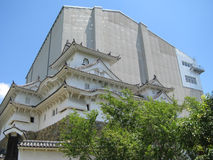 Himeji Castle under reconstruction Stock Photo