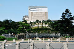 Himeji Castle under restoration Stock Photos