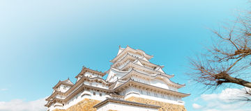 Himeji Castle view from Below Royalty Free Stock Image