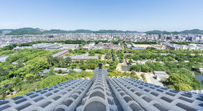 Himeji city from castle Royalty Free Stock Photos