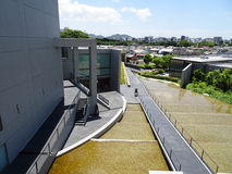 Himeji City Museum of Literature 姫路文学館. Himeji City Museum of Literature`s Architecture by a famous architect, Tadao Ando. It`s located in Himeji-shi Royalty Free Stock Photography
