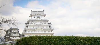 Himeji Grodowy frontowy widok Zdjęcie Stock