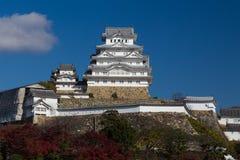 Himeji grodowy historyczny punkt zwrotny podczas jesień sezonu Obrazy Stock