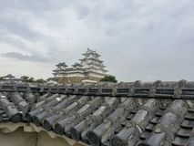 Himeji, JAPAN, August 12 2017, Main tower of the Himeji-jo Castle. Himeji, JAPAN, August 12 2017, Main tower of the Himeji-jo Castle in summer season Royalty Free Stock Photography