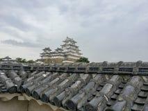 Himeji, JAPON, le 12 août 2017, tour principale du château de Himeji-jo Photographie stock libre de droits