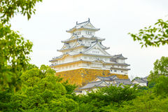 Himeji Jo Castle Framed Trees Details H Royalty Free Stock Images