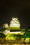 Himeji Jo Castle Front Center Light Bridge Night V Stock Image