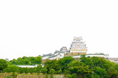 Himeji Jo Castle Front Distant Far Copy Space H Royalty Free Stock Image