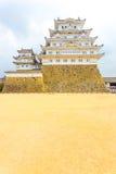 Himeji Jo kasztelu bazy podwórze Chmurnieje Prostego V Obrazy Royalty Free