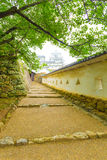 Himeji Jo utrzymania Grodowi Wewnętrzni schodki Obramiać ściany Fotografia Stock