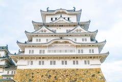 Himeji kasztel w Hyogo prefekturze, Japonia, UNESCO światowe dziedzictwo obrazy royalty free