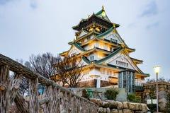 Himeji kasztel w wieczór zdjęcie stock