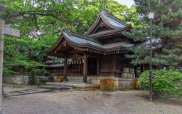 Iwakura Inari Shrine with Equipment in a typical, green landscape close to Himeji Castle. Himeji, Hyogo, Japan, Asia royalty free stock photos