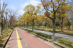 Himeji park Royalty Free Stock Image